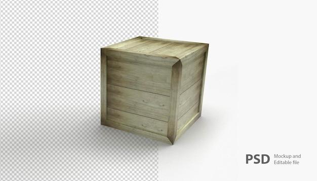 Sluit omhoog op geïsoleerde houten doos