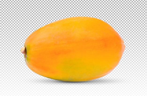 Sluit omhoog op geïsoleerde papaja