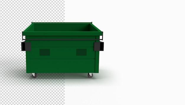 Sluit omhoog op geïsoleerde vuilnisbak