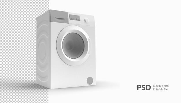 Sluit omhoog op geïsoleerde wasmachine