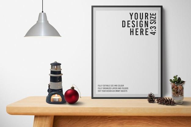 Sluit omhoog op het moderne ontwerp van het fotolijstmodel