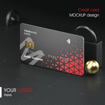 Sluit omhoog op het ontwerp van het creditcardmodel