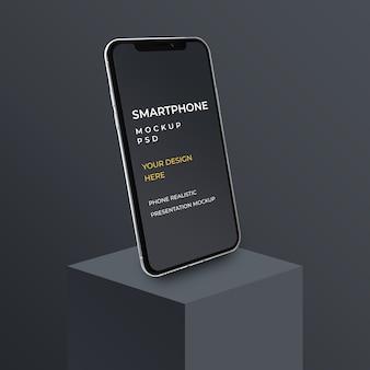 Sluit omhoog op het presentatiemodel van de smartphone-app