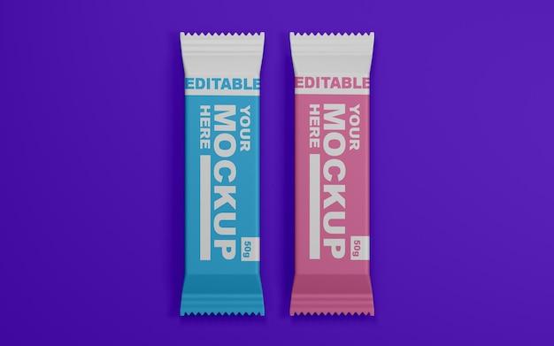 Sluit omhoog op realistisch snackbar mockup design