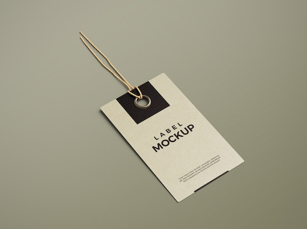 Sluit omhoog op schoon en elegant model van het etiketlabel