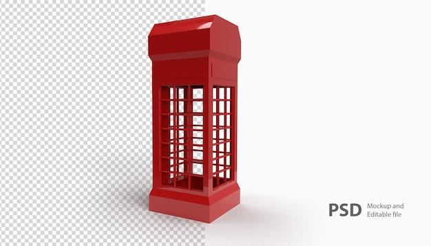 Sluit omhoog op telefooncel die in 3d-weergave wordt geïsoleerd