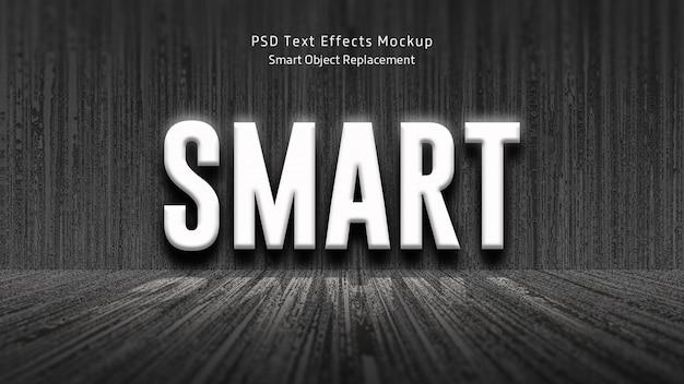 Smart 3d-teksteffecten mockup