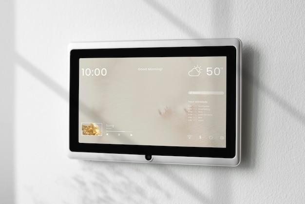 Smart home-paneelmonitor mockup psd-paneel