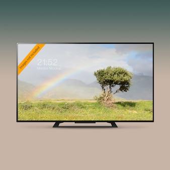 Smart led ultra hd tv-mock-up