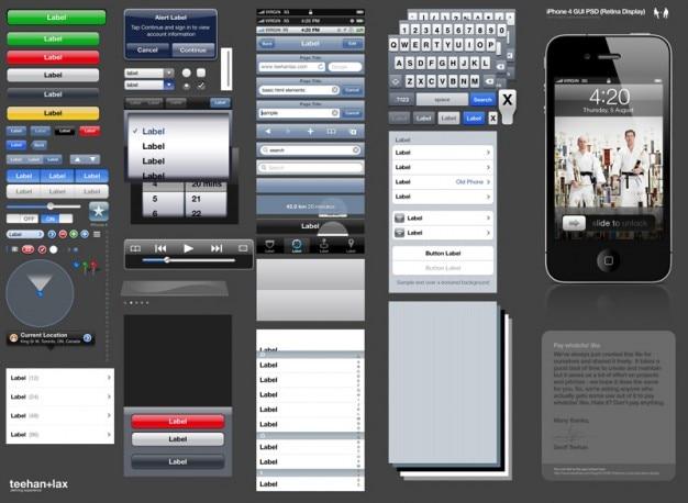 Smart phones gebruikersinterface