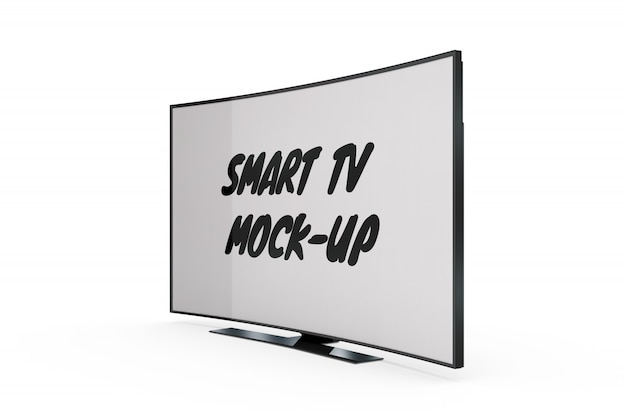Smart tv mock-up isolato