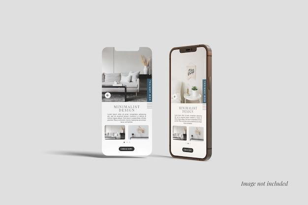 Smartphone 12 max pro y maqueta de pantalla