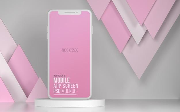 Smartphone-app-scherm 3d-mockup