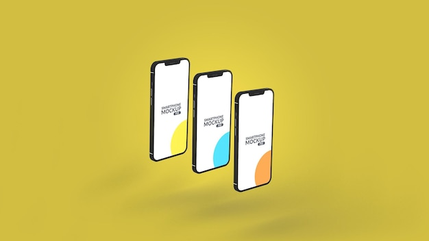 Smartphone-app ui-presentatie mockupontwerp