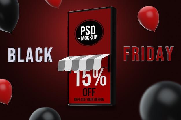 Smartphone black friday-modelontwerp