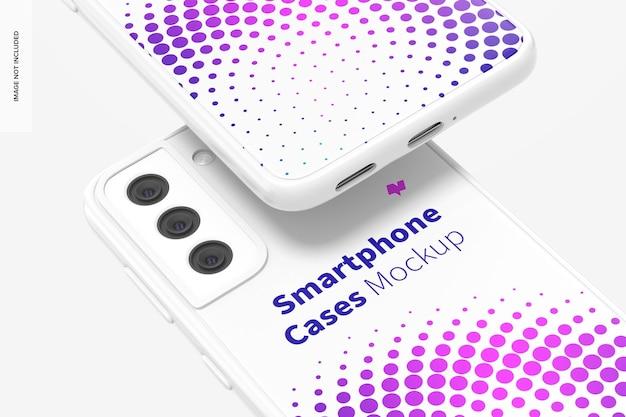 Smartphone case mockup, close-up