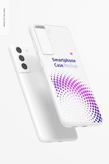 Smartphone case mockup, drijvend