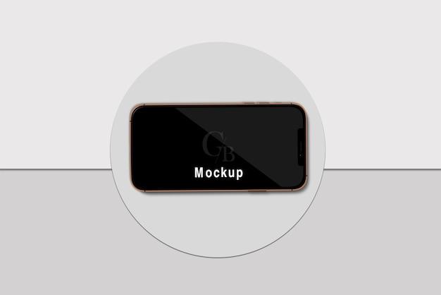 Smartphone con black screen mockup