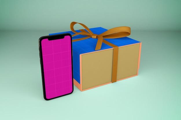 Smartphone en geschenkdoos
