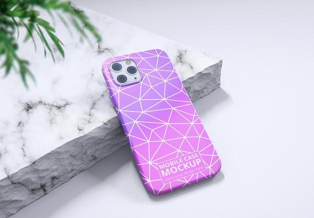 Smartphone geïsoleerd geval realistisch ik telefoon achterkant mockup