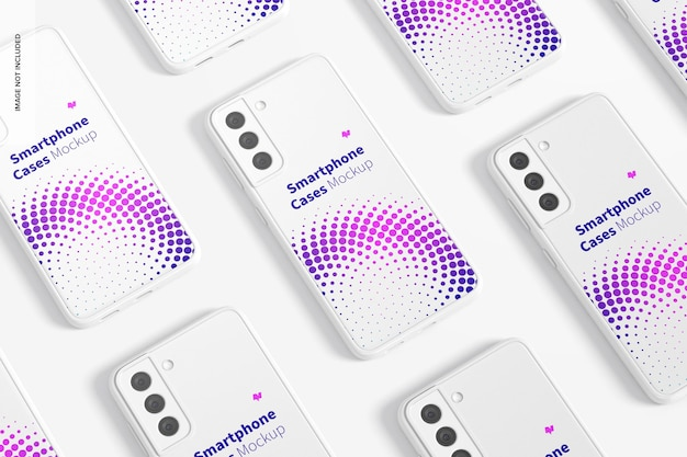 Smartphone-hoesjes set mockup