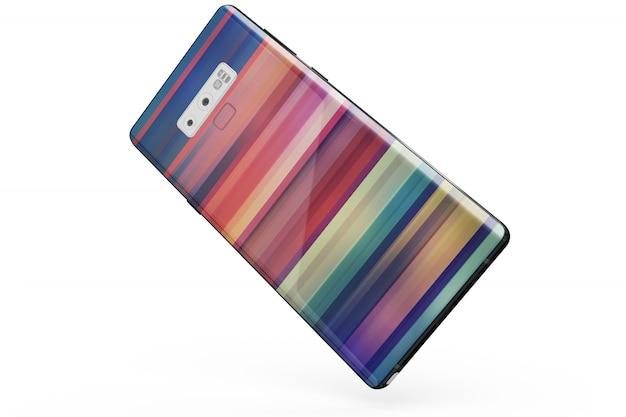 Smartphone huidmodel geïsoleerd
