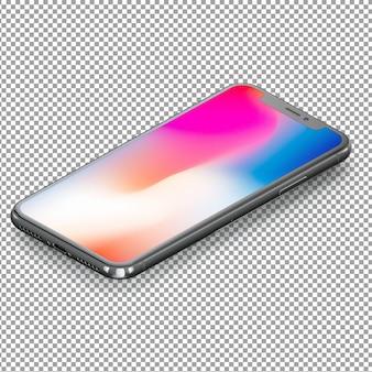 Smartphone isométrico con pantalla colorida