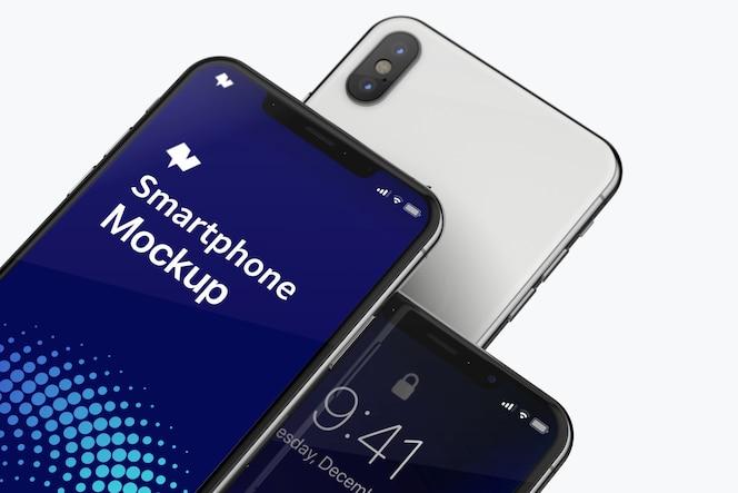 Smartphone max mockup close-up