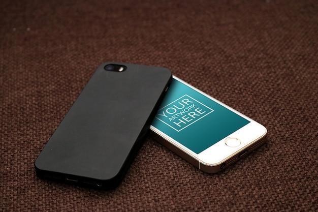 Smartphone met groen scherm