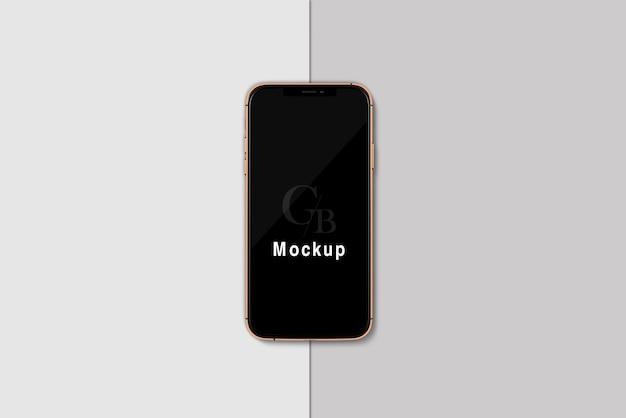 Smartphone met zwart schermmodel