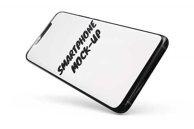Smartphone-mock-up geïsoleerd