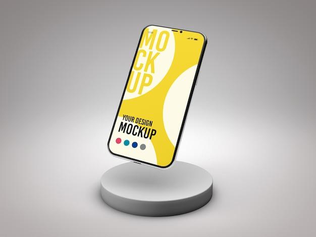Smartphone-mockup in 3d-weergave geïsoleerd