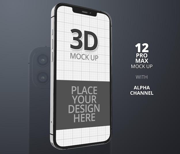 Smartphone mockup ontwerpweergave geïsoleerd