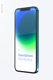 Smartphone mockup op wit