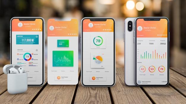 Smartphone-mockup voor apps