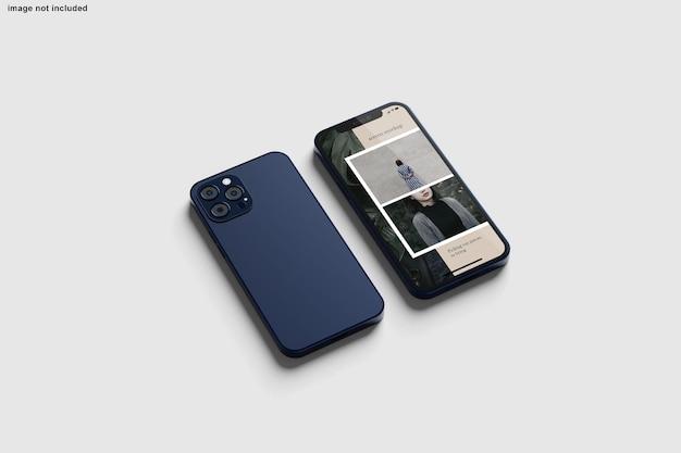 Smartphone-mockup voor ontwerppresentatie