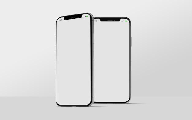 Smartphone-model geïsoleerd