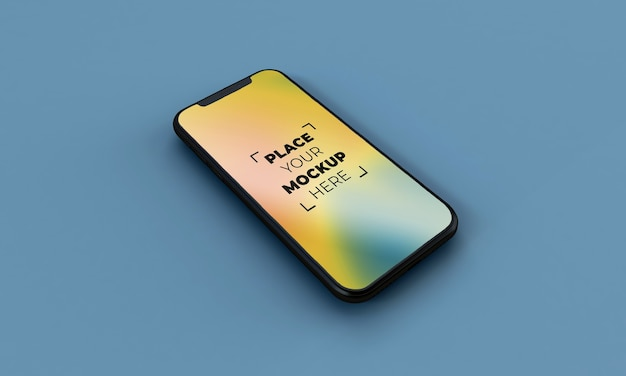 Smartphone-model op volledig scherm