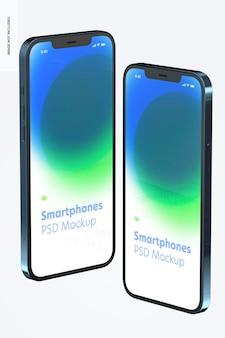 Smartphone-modellen op wit