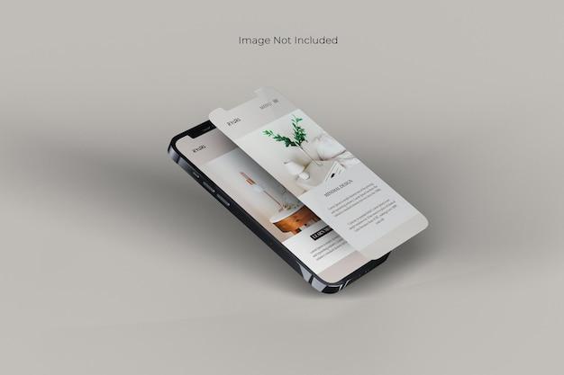 Smartphone-modelontwerp op volledig scherm