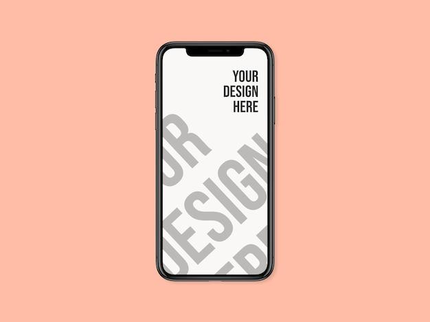 Smartphone-ontwerp mockup-ontwerp