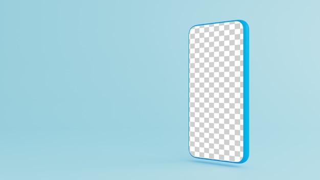 Smartphone op blauwe achtergrond