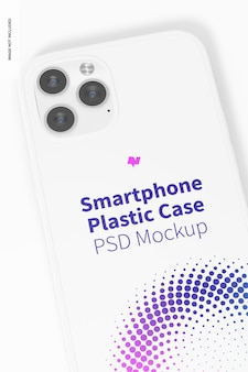 Smartphone plastic behuizing mockup, close-up
