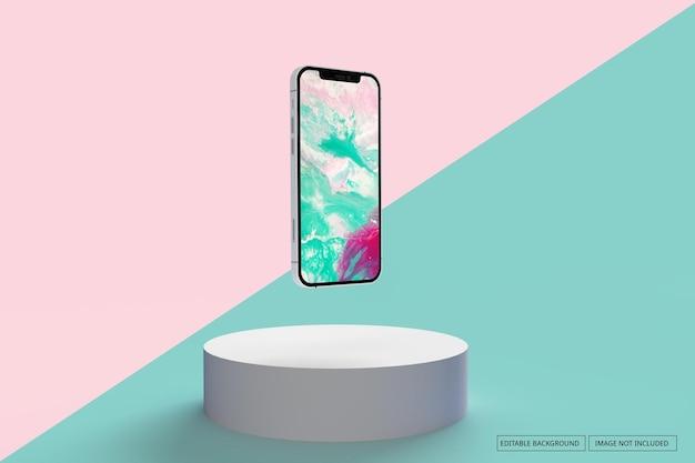 Smartphone realistisch geïsoleerd schermmodel