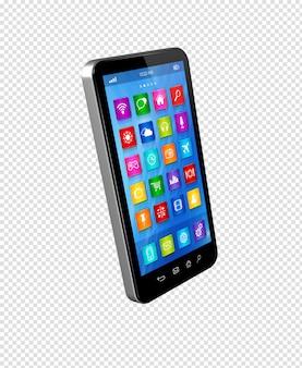 Smartphone-touchscreen hd - interface van apps-pictogrammen