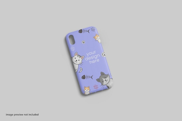 Smartphonehoes of hoesje mockup 3d-rendering