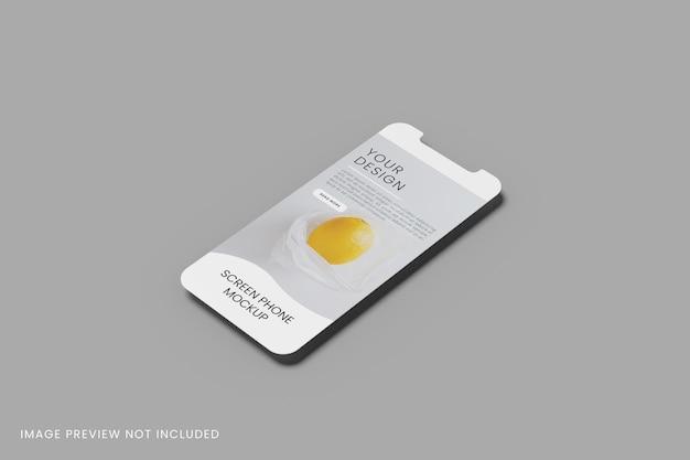 Smartphonescherm voor apps-mockup