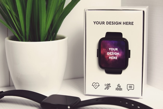 Smartwatch display mockup