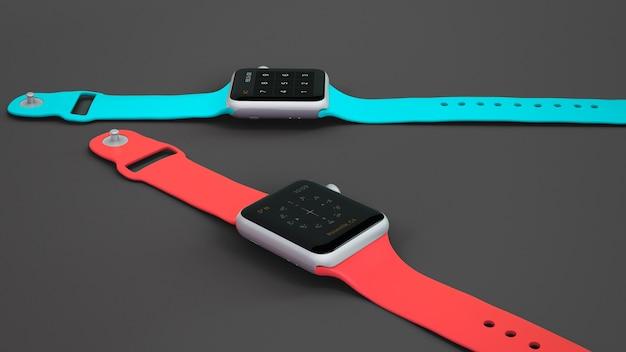 Smartwatch-mockup van twee