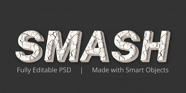 Smash text style effect